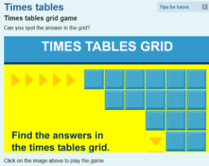 grid tables game